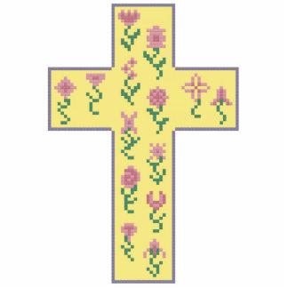 Floral Cross Photo Cutouts
