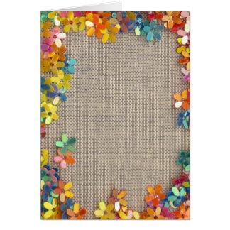 floral decor card