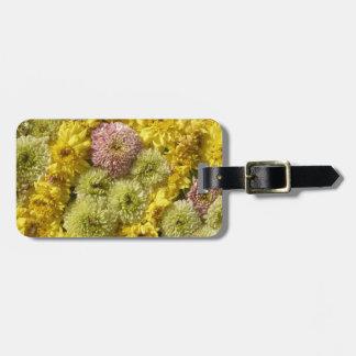 Floral decor luggage tag