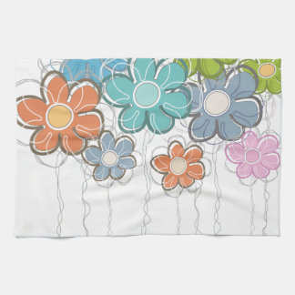 Floral Decor Tea Towel