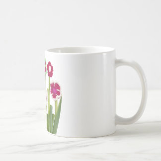 floral decoration basic white mug