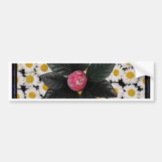Floral decoration bumper sticker