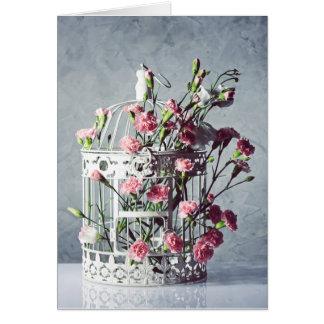 Floral decoration card