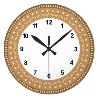 Floral decoration clock