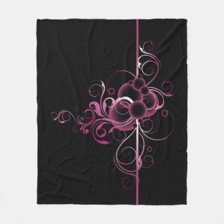Floral Decoration Fleece Blanket