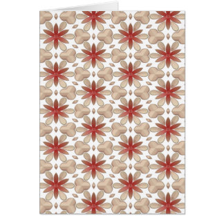 Floral Decoration. Floral Fabric Texture Pattern Greeting Cards