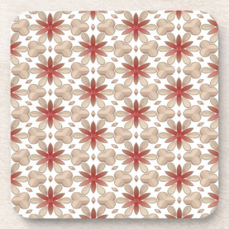Floral Decoration. Floral Fabric Texture Pattern Drink Coaster