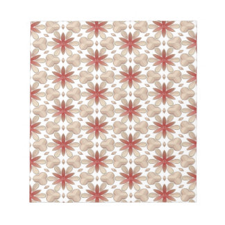 Floral Decoration. Floral Fabric Texture Pattern Note Pad