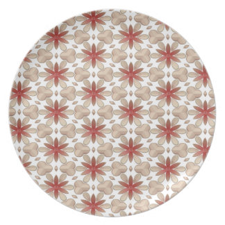 Floral Decoration. Floral Fabric Texture Pattern Plate