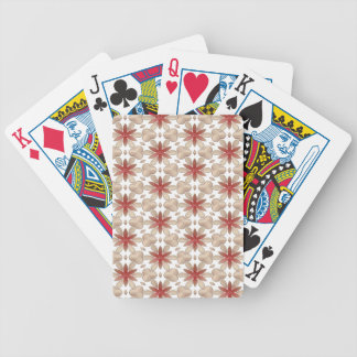 Floral Decoration. Floral Fabric Texture Pattern Bicycle Playing Cards