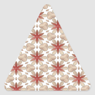 Floral Decoration. Floral Fabric Texture Pattern Triangle Sticker