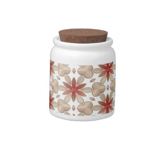 Floral Decoration. Floral Fabric Texture Pattern Candy Jars