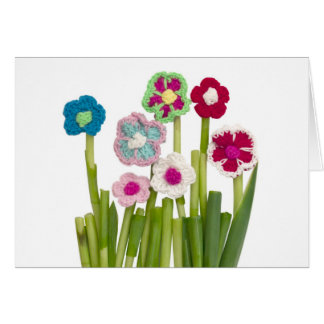 floral decoration greeting card