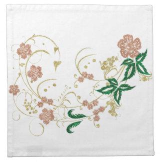 Floral decoration napkin