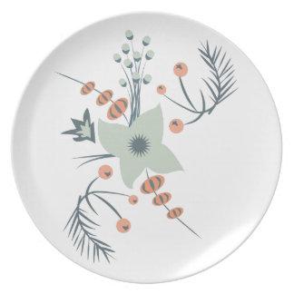 Floral Decoration Party Plates