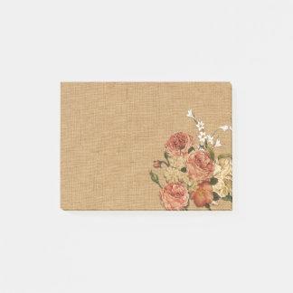 Floral decoration post-it notes