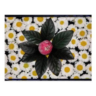 Floral decoration post card