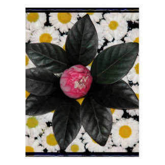 Floral decoration postcard
