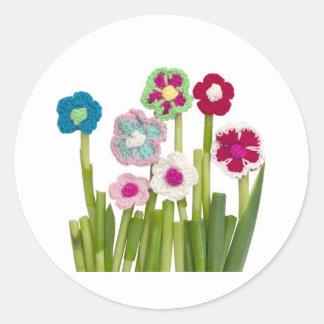 floral decoration round sticker