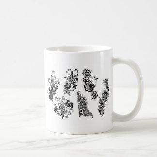 Floral Decorative design Basic White Mug