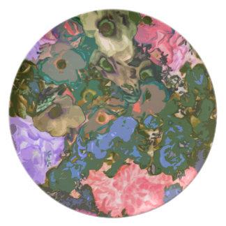 Floral Decorative Melamine Plate