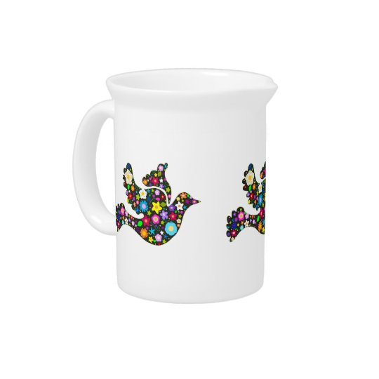Floral Dove of flowers Pitcher