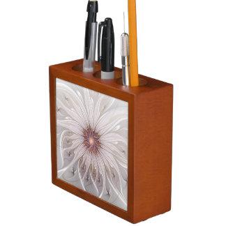 Floral Fantasy, Abstract Modern Pastel Flower Desk Organiser