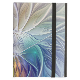 Floral Fantasy, Colorful Abstract Fractal Flower Cover For iPad Air