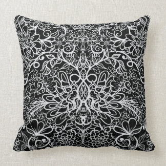 Floral Fantasy | Hand Drawn Flowers Cushion