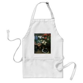 Floral Fine Art with Pansies Apron