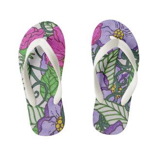 Floral Flip flops Thongs