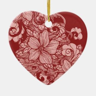 Floral Flow- Burgundy- Christmas Ornament
