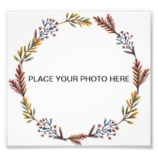 Floral Frame Photo Print