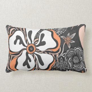 Floral Frill   Customizable Color   Throw Pillow