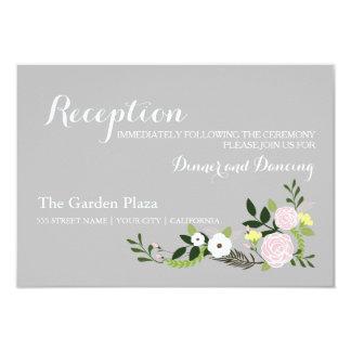 Floral Garden Reception Card -gray