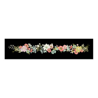 Floral Garden Wedding Napkin Bands