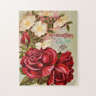 Floral Gem 1897 Roses Vintage Flower Advertisement Puzzle