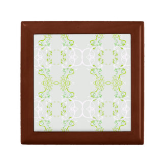 Floral green gift box