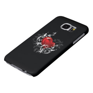 Floral Heart Samsung Galaxy S6 Cases