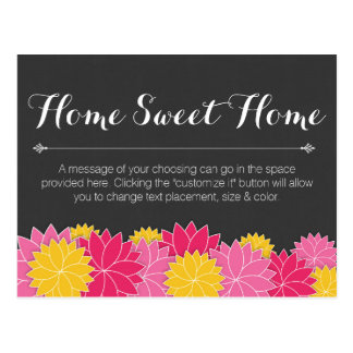 Floral Home Sweet Home Change of Address Cards Postcard