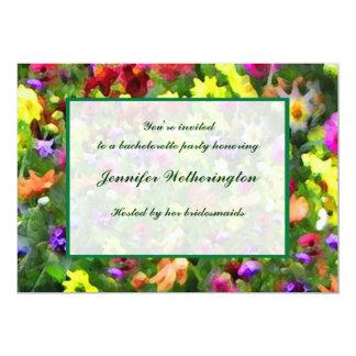 Floral Impressions Bachelorette Party Card