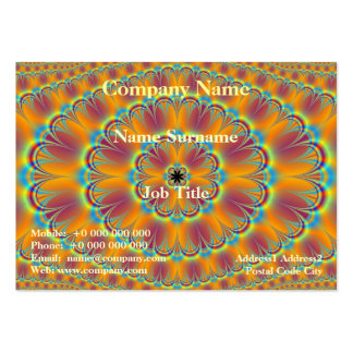 Floral in Green and Orange Card Business Cards