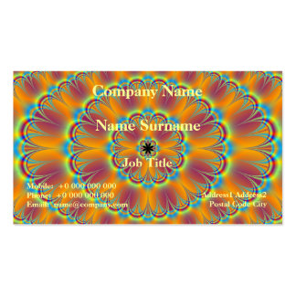 Floral in Green and Orange Card Pack Of Standard Business Cards