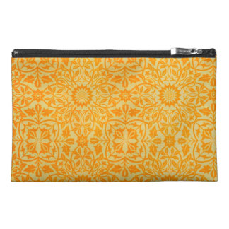 Floral in Orange and Gold Travel Accessory Bags