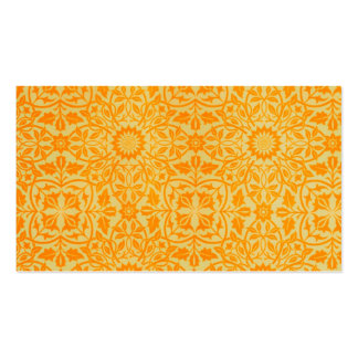 Floral in Orange and Gold Business Card