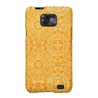 Floral in Orange and Gold Samsung Galaxy SII Case