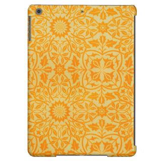 Floral in Orange and Gold iPad Air Cases