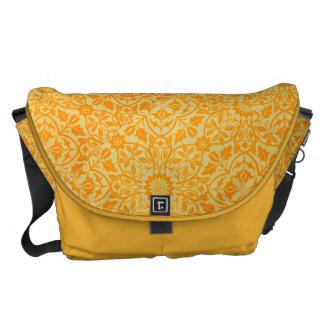 Floral in Orange and Gold Commuter Bag