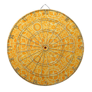 Floral in Orange and Gold Dartboards