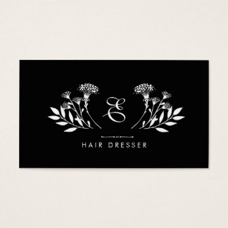 Floral Insignia Hairdresser Business Card